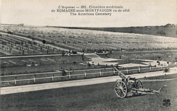 Vue générale de l'American Cemetery - E.M.